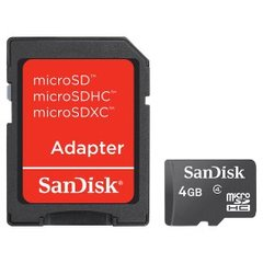 SANDISK - Micro SD 4GB